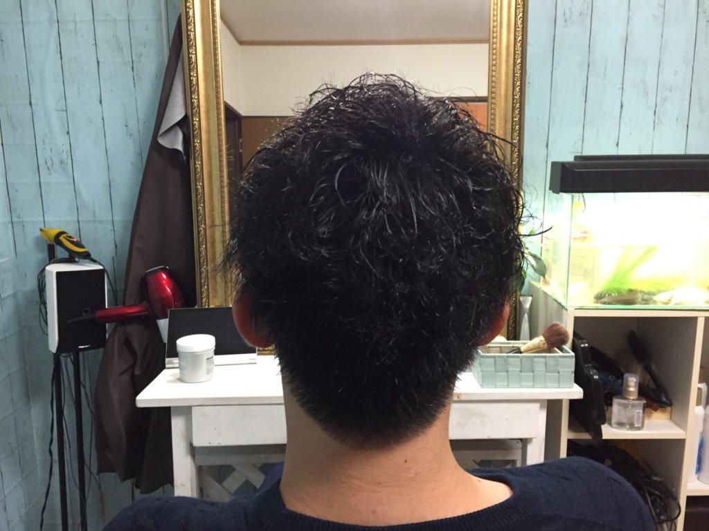 前髪ストレート&ツイストピンパーマ