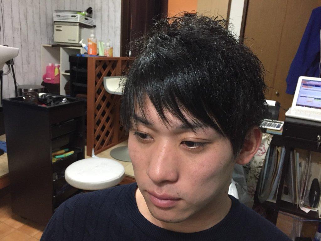 前髪ストレートメンズ
